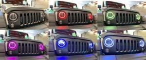 X LED 9100 RGB fényszóró (2)