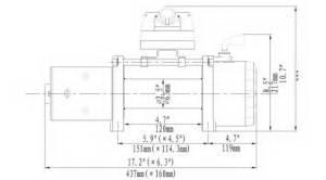 Alpha 9.5s MOBIL csörlő - 12V